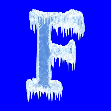 Icing alphabet. Letter F. Upper case. With clipping path   photo