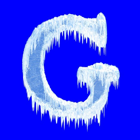 Icing alphabet. Letter G. Upper case  photo