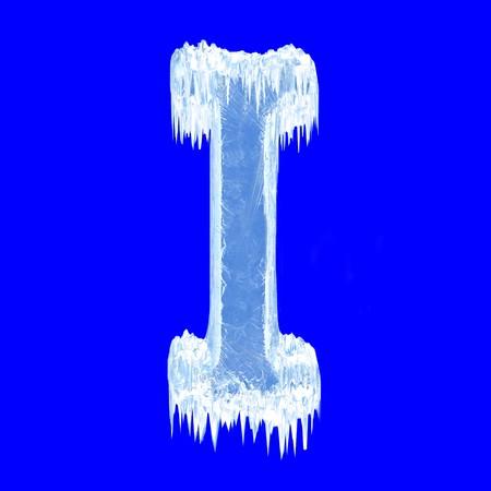 Icing alphabet. Letter I. Upper case photo