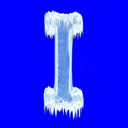 letterpress letters: Icing alphabet. Letter I. Upper case Stock Photo
