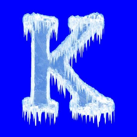 Icing alphabet. Letter K. Upper case  photo