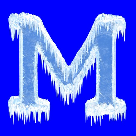 Icing alphabet. Letter M. Upper case   photo