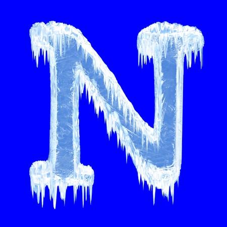 Icing alphabet. Letter N. Upper case  photo