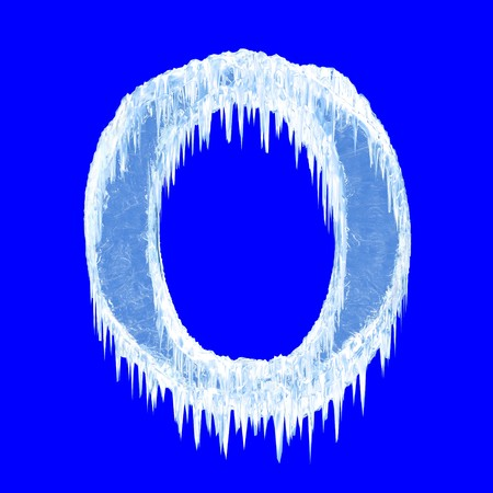 ice alphabet: Icing alphabet. Letter O. Upper case  Stock Photo