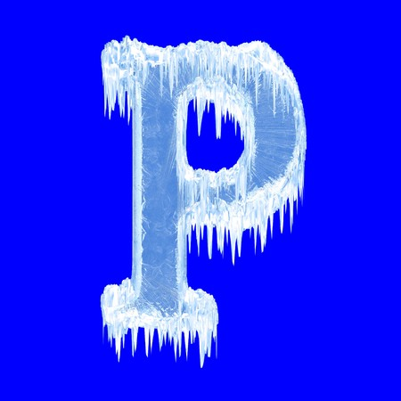 Icing alphabet. Letter P. Upper case  photo