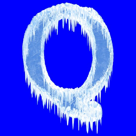 Icing alphabet. Letter Q. Upper case  photo