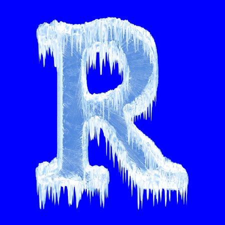 Icing alphabet. Letter R. Upper case  photo
