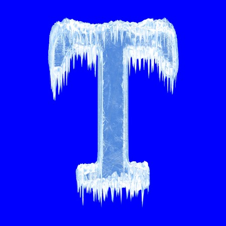 Icing alphabet. Letter T. Upper case  photo