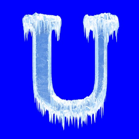 Icing alphabet. Letter U. Upper case   photo