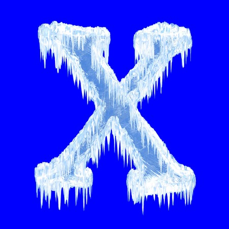 Icing alphabet. Letter X. Upper case  photo