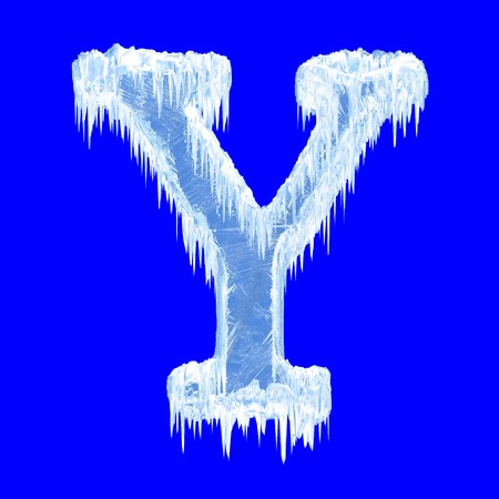 Icing alphabet. Letter Y. Upper case  photo