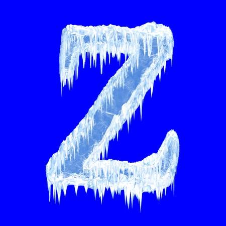 Icing alphabet. Letter Z. Upper case  photo