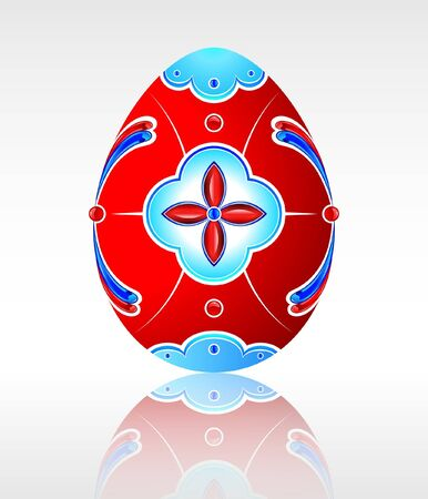 paschal: Beautiful red Easter egg with a pattern