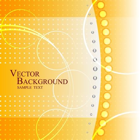 Abstract yellow corporate background Vector