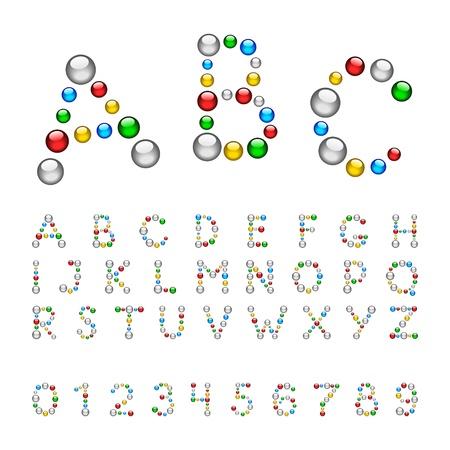 Merry font bead