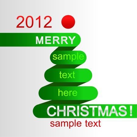 Stylized Christmas tree Stock Vector - 10564252