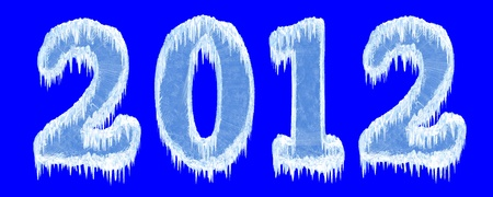 pellucid: New Year 2012 inscription of ice letters.