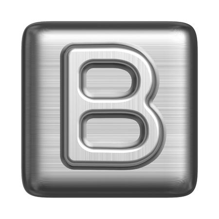 cliche: Metal alphabet in the form of a cliche. Capital letter B