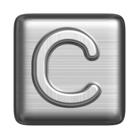 cliche: Metal alphabet in the form of a cliche. Capital letter C