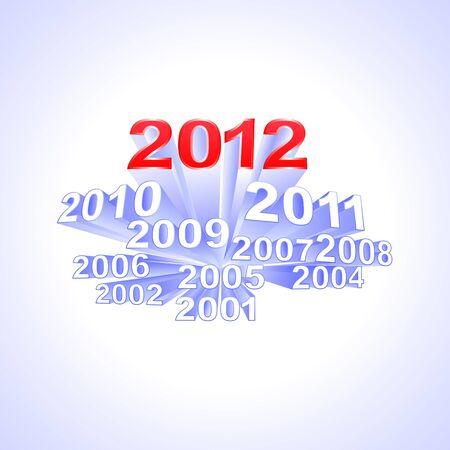 """extruded: Iscrizione estruso """"2012"""""""