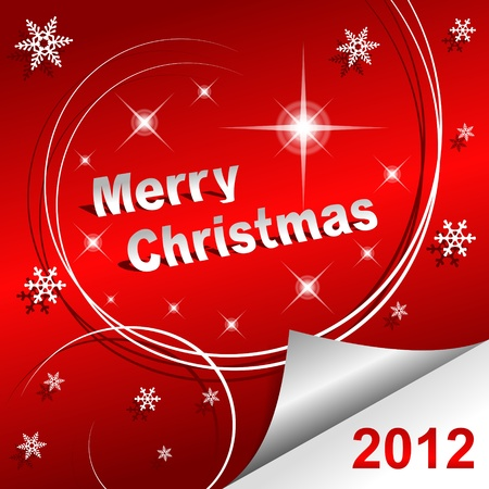 Merry Christmas 2012 red background Vector