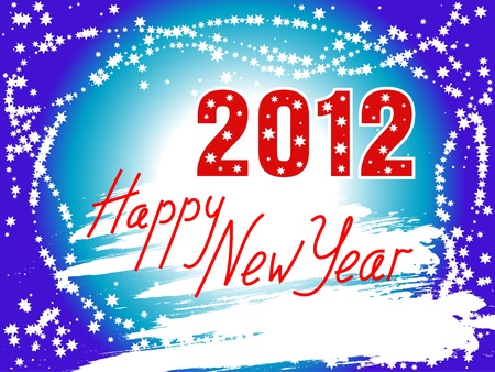 Happy New Year 2012 background Vector