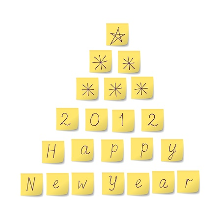 Christmas Tree of stickers Stock Vector - 11042049