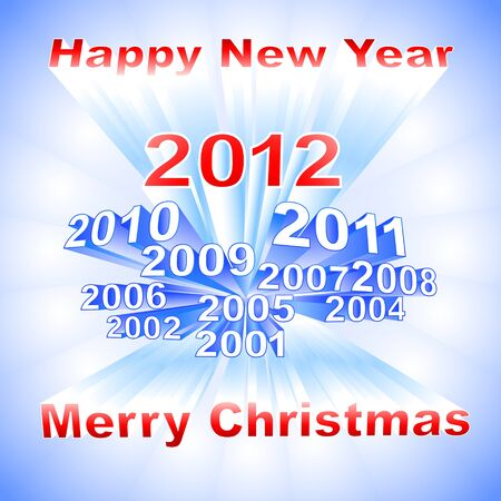 New Year 2012 light background Vector