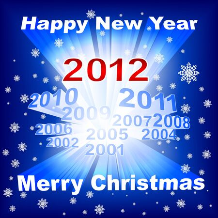 Merry Christmas 2012 blue background Vector