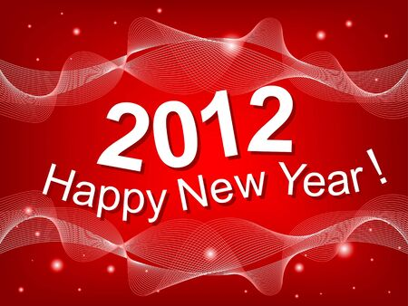 New Year 2012 red background Stock Vector - 11042053