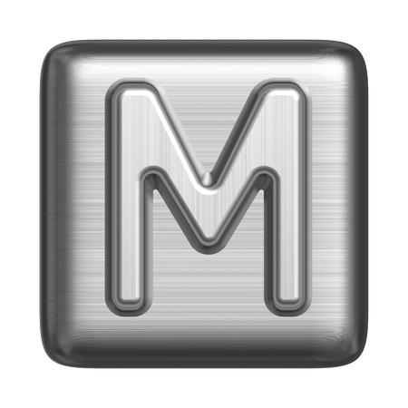 Metales alfabeto en forma de un sello. Letra mayúscula M Foto de archivo - 11042055