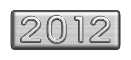 New Year 2012 metal sign photo
