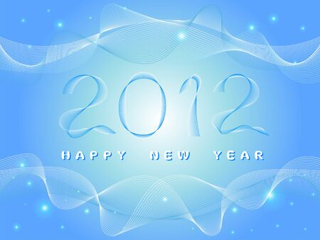 New Year fantasy blue background Stock Vector - 11111464