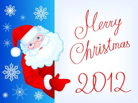 Christmas background with kind Santa Claus Vector