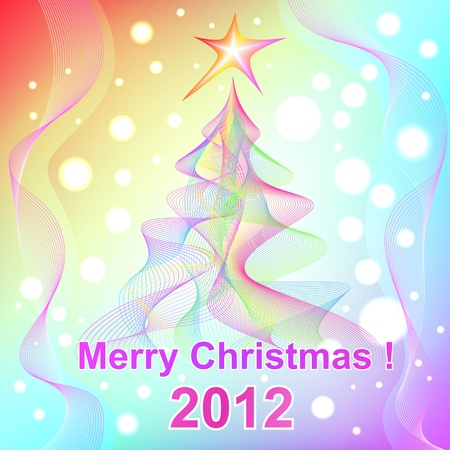 Merry Christmas 2012 background Vector
