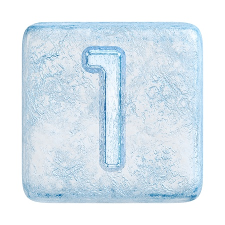 Ice cubes Font. Number 1