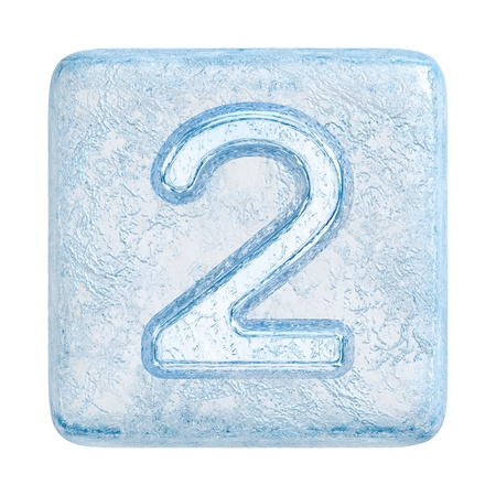 Ice cubes Font. Number 2 photo