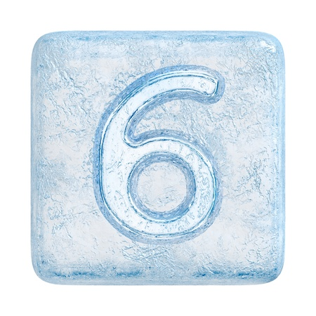 number 6: Ice cubes Font. Number 6