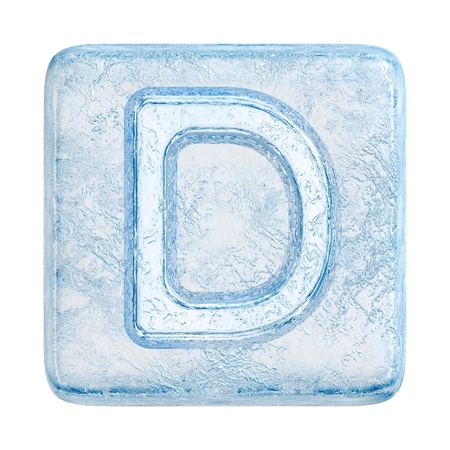 Ice cubes Font. Letter D photo