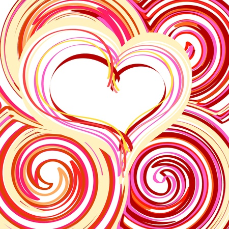 Beautiful Abstract Heart background Vector