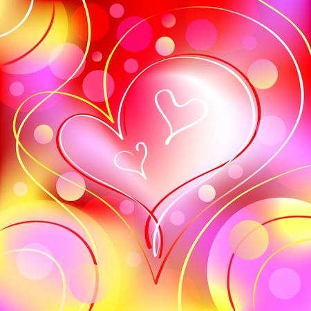 Beautiful Romantic Heart Background Stock Vector - 11980325