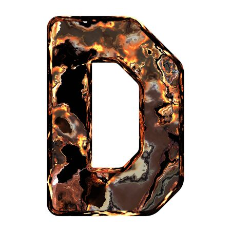 dross: Abstract rusty grunge font. With clipping path. Capital letter D