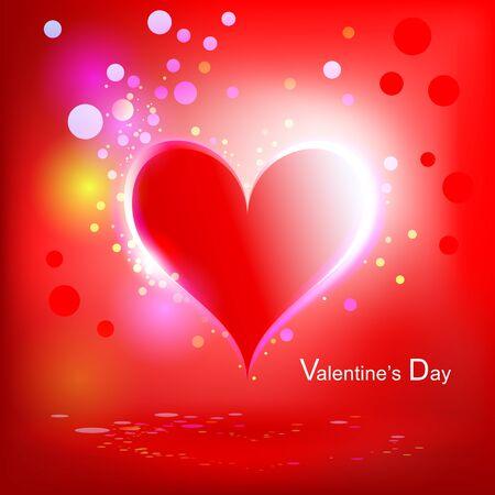 Heart Shiny Holiday Background Stock Vector - 12187698