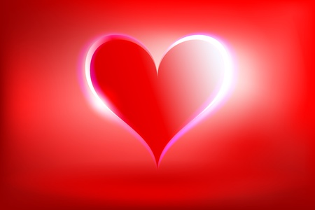 Glowing Heart Stock Vector - 12187699