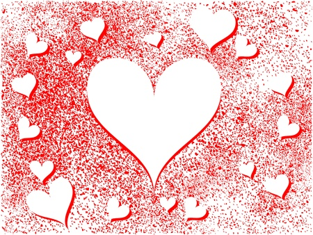 Abstract Heart Holiday Background Stock Vector - 12187686