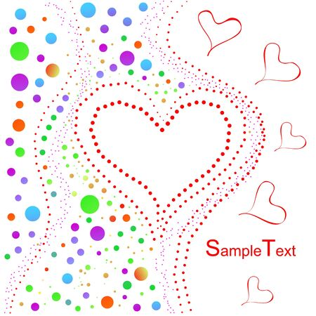 Funny holiday heart background Stock Vector - 12187697