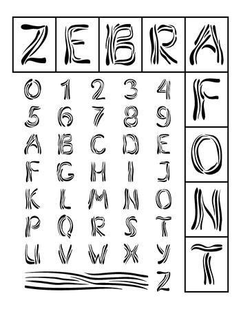 Zebra Font Stock Vector - 12187683
