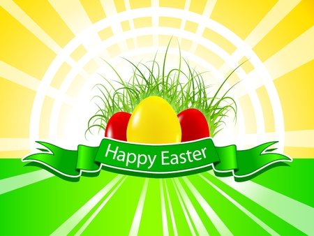 Happy Easter background Stock Vector - 12487768