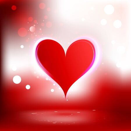 Beautiful background with heart Vector