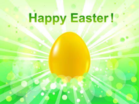 lustre: Easter green  bokeh background  Happy Easter Illustration
